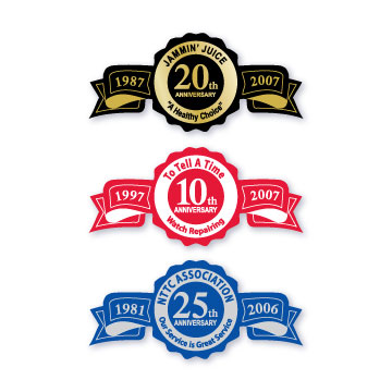 Years In Business Stickers