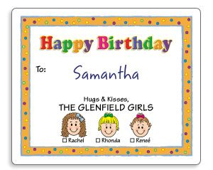 Personalized Labels For Birthday And Christmas Gifts Caricature Gift