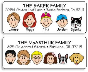 family-address-labels