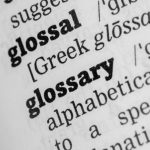 Glossary Dictionary Definitione single word close up