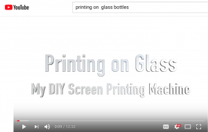 Glass Bottle Printing DYI