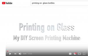 Glass Bottle Printing DYI