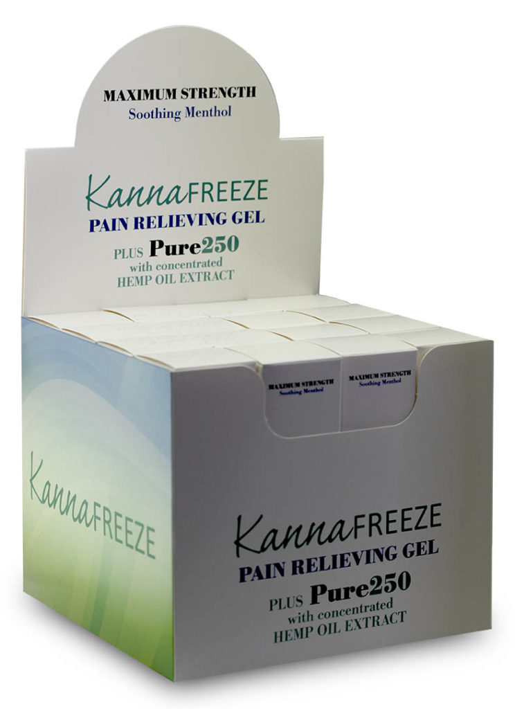 Pain t of Purchase Display Box CBD Pain Cream Hemp Oil Extract