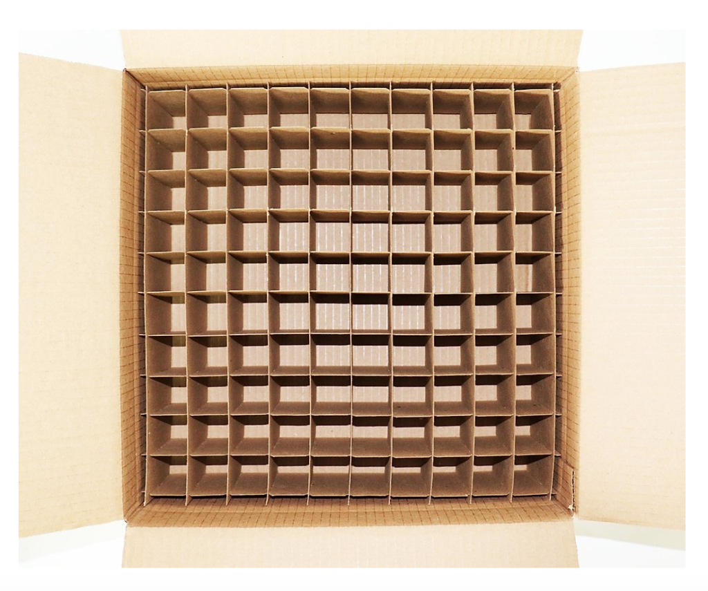 Protective Boxes for Glass Bottles with dividers