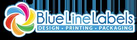 Blue Line Labels Company Logo